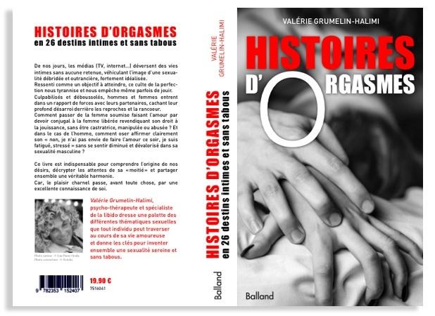 Histoires d'orgasmes ouvrage de développement personnel de la psychologue Valérie Grumelin