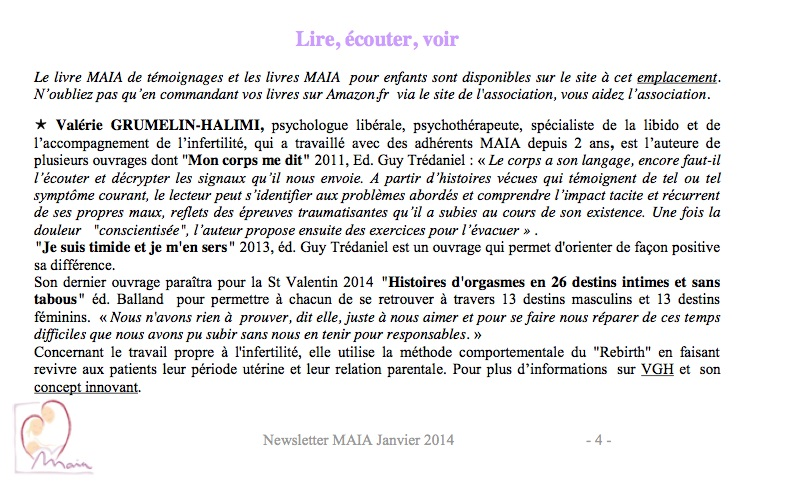 Asso Maia newsletter