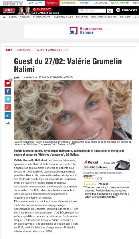 Article de presse Valérie Grumelin Psychologue à Paris