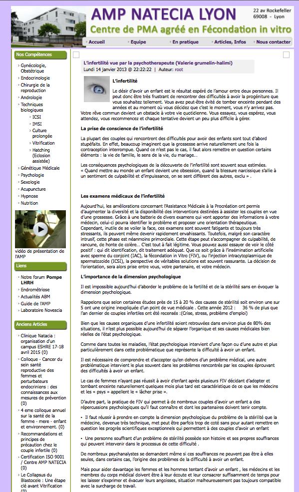Consultation à Lyon clinique Natecia avec Dr Bied Damon